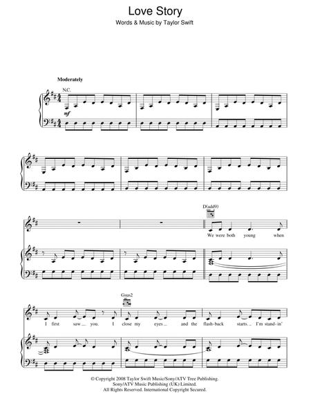 Download Digital Sheet Music Of Taylor Swift Piano Voice For Piano