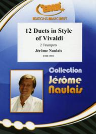Jerome Naulais  Sheet Music 12 Duets in Style of Vivaldi Song Lyrics Guitar Tabs Piano Music Notes Songbook