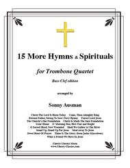 Traditional  Sheet Music 15 More Hymns & Spirtuals-Bass Clef Song Lyrics Guitar Tabs Piano Music Notes Songbook