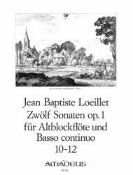 Jean-Baptiste Loeillet  Sheet Music 12 Sonatas op. 1 Band 4 Song Lyrics Guitar Tabs Piano Music Notes Songbook