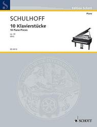 Erwin Schulhoff  Sheet Music 10 Piano Pieces, Op. 30 Song Lyrics Guitar Tabs Piano Music Notes Songbook