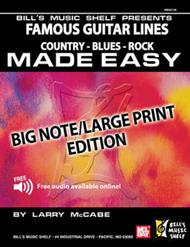 Famous Guitar Lines Made Easy - Big Note/Large Print Edition sheet music