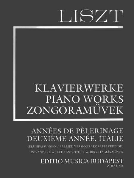 Sheet Music Franz Liszt Annees De Pelerinage Piano Solo