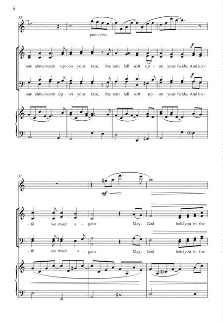 Sheet music: An Irish Blessing (SATB, Flute)