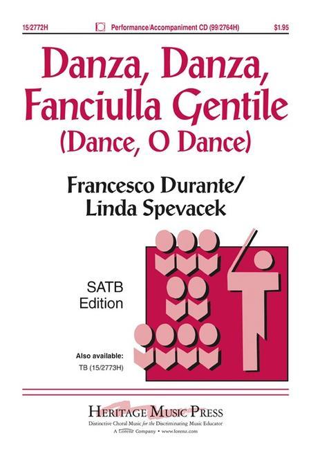 Sheet Music Danza Danza Fanciulla Gentile Satb Piano