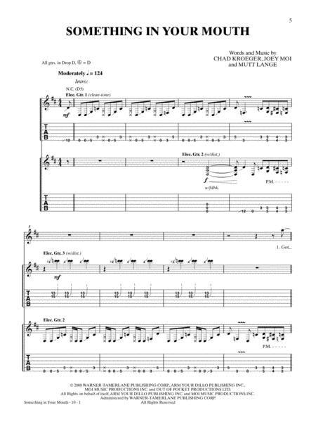 Chad Kroeger sheet music to download and print - World center of ...