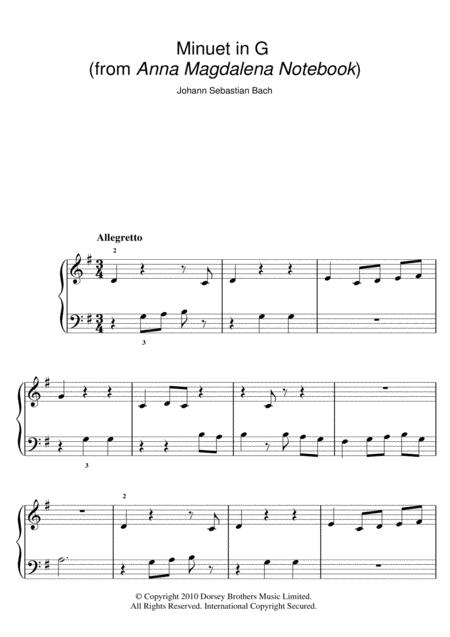 Download Digital Sheet Music of Johann Sebastian Bach / C for Easy Piano