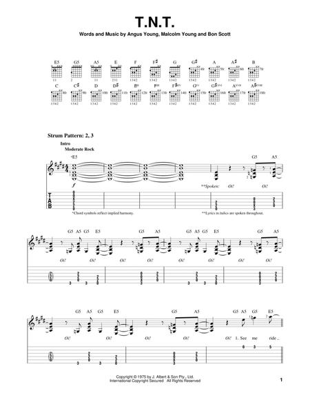 Download Digital Sheet Music Of Acdc For Guitar Notes And Tablatures