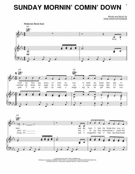 Johnny Cash and Kris Kristofferson sheet music to download and print ...
