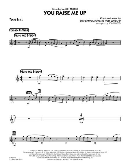 Download Digital Sheet Music Of You Raise Me Up For Tenor Saxophone