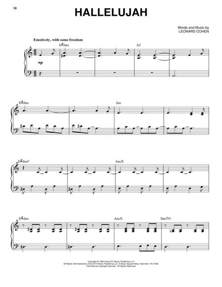 Download Digital Sheet Music Of Hallelujah For Piano Vocal And Guitar