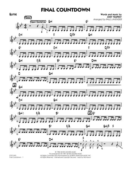 Joey Tempest sheet music to download and print - World center of ...