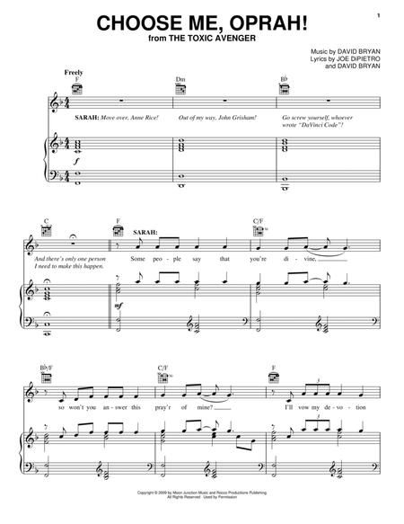 Joe DiPietro and The Toxic Avenger (Musical) sheet music to download ...
