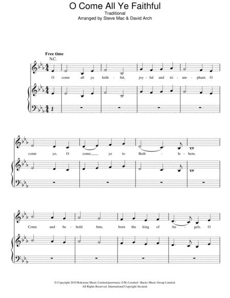 Download Digital Sheet Music of O Faithful Pine for Piano, Vocal and ...