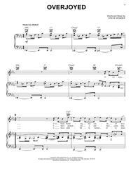 Overjoyed sheet music