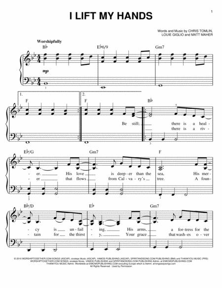 sovereign chris tomlin sheet music pdf