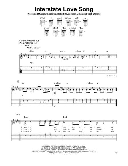 Stone Temple Pilots sheet music to download and print