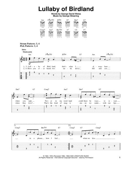 Download Digital Sheet Music of george shearing for Guitar notes and ...