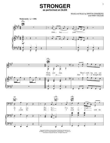 Britney Spears Glee Tv Series And Glee Cast Sheet Music To Download And Print World Center Of Digital Sheet Music Shop