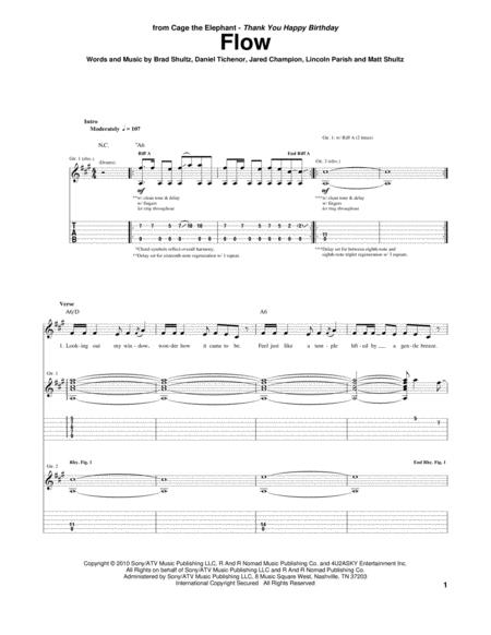 Cage The Elephant Sheet Music To Download And Print World Center Of Digital Sheet Music Shop