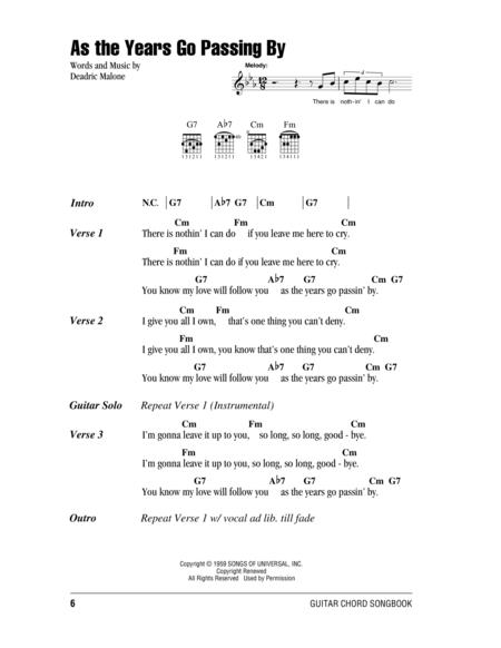 As Years Go By Sheet Music To Download And Print World Center Of