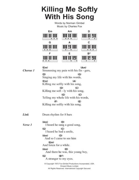 killing me softly sheet music pdf