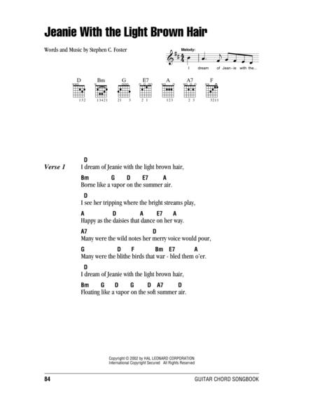 Jeanie With The Light Brown Hair Sheet Music To Download And Print