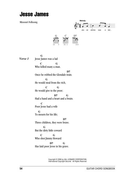 Jesse James sheet music to download and print - World center of ...
