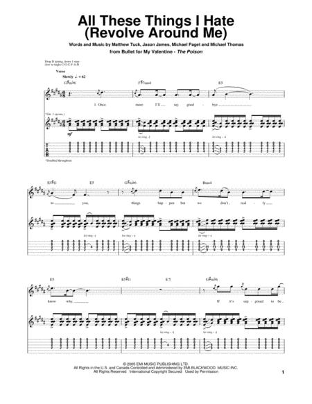 Buy Bullet For My Valentine Tablature Books
