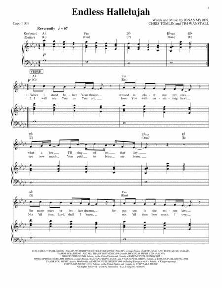 Download Digital Sheet Music of hallelujah for Piano, Vocal and Guitar