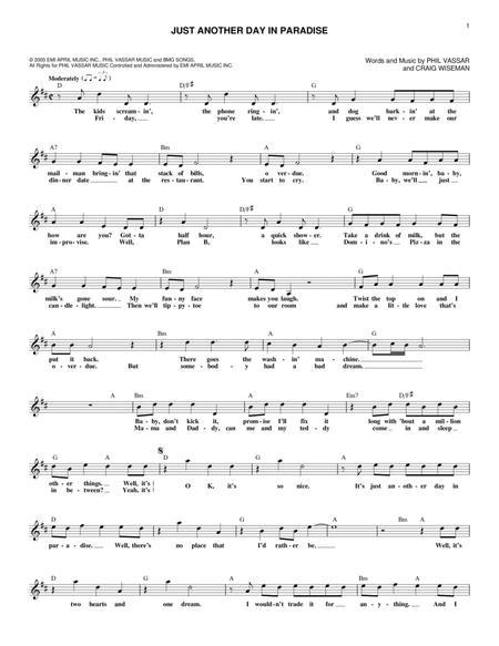 paradise piano sheet music pdf