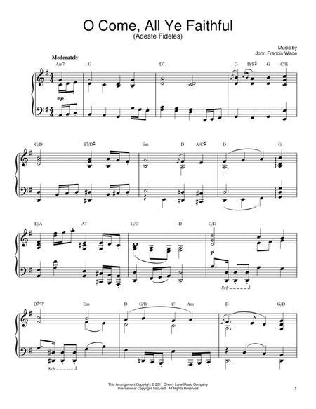 Download Digital Sheet Music of Adeste Fideles / O Come All Ye ...