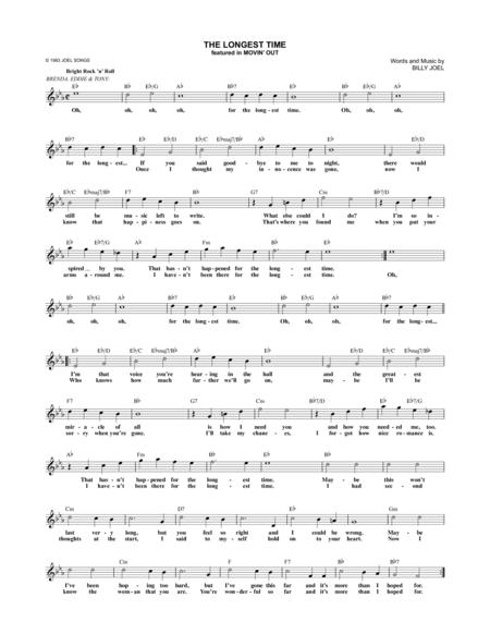 Billy Joel and Movin\' Out (Musical) sheet music to download and ...