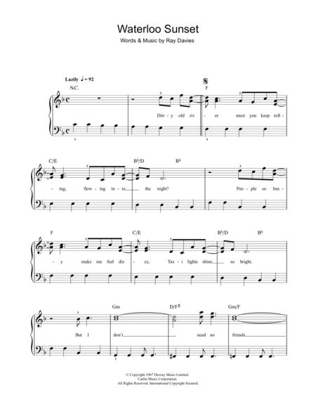 Download Digital Sheet Music of Sunset for Piano solo