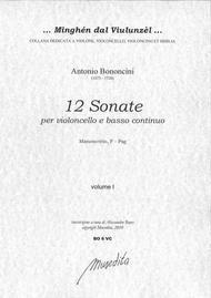 Antonio Bononcini  Sheet Music 12 Cello Sonatas (Manuscript, F-Psg) Song Lyrics Guitar Tabs Piano Music Notes Songbook