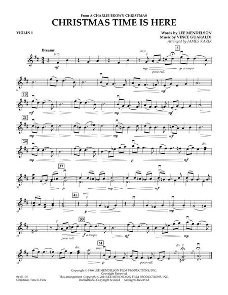 by lee mendelson and vince guaraldi arranged by james kazik christmas orchestra 1 pages published by hal leonard digital sheet music - Vince Guaraldi Christmas Time Is Here