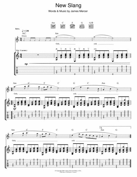 The Shins Sheet Music To Download And Print World Center Of