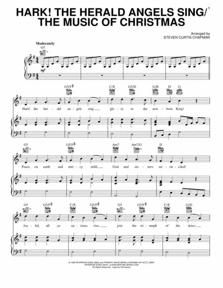 Download Digital Sheet Music Of Hark The Herald Angels Sing For