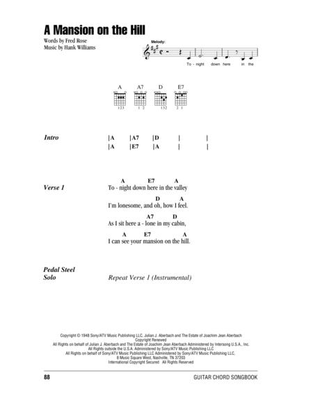 A Mansion On The Hill Sheet Music To Download And Print World
