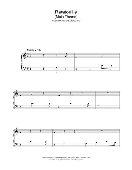 Michael Giacchino And Ratatouille Movie Sheet Music To Download