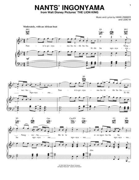 Download Digital Sheet Music Of Elton John Tim Rice For Piano Vocal