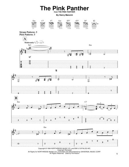 Download Digital Sheet Music Of Pantera For Guitar Notes And Tablatures