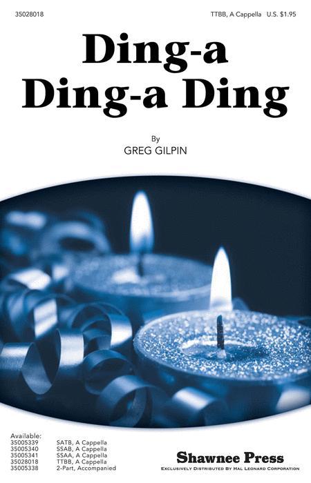 Sheet music: Ding-a Ding-a Ding (TTBB A Cappella)