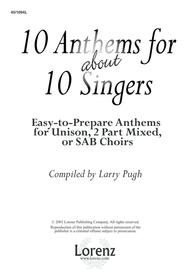 Sheet Music 10 Anthems for about 10 Singers Song Lyrics Guitar Tabs Piano Music Notes Songbook