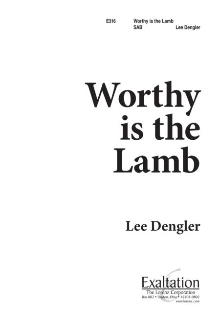 worthy is the lamb sheet music to download and print - World center ...