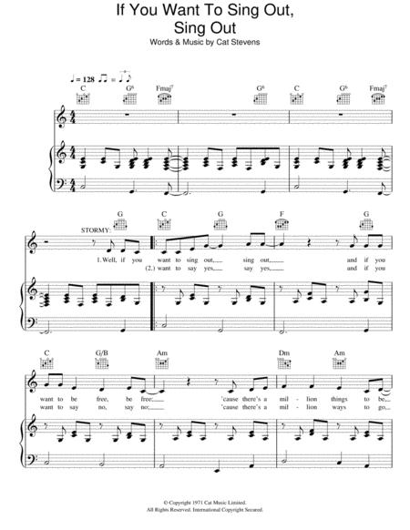 Cat Stevens And Moonshadow Musical Sheet Music To