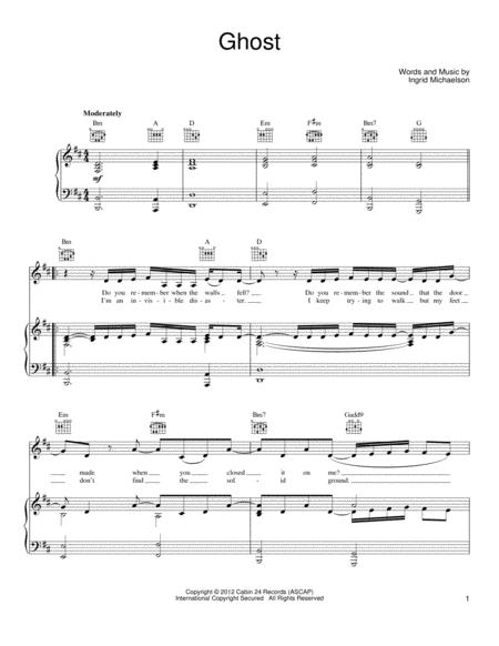 Ingrid Michaelson Sheet Music To Download And Print World Center