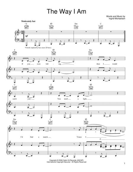 Ingrid-Michaelson sheet music to download and print - World center