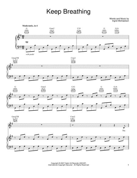 Ingrid Michaelson sheet music to download and print - World center ...