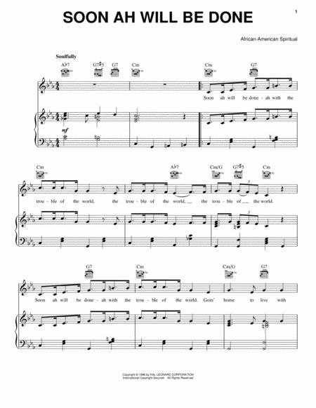 African-American Spiritual sheet music to download and print - World ...